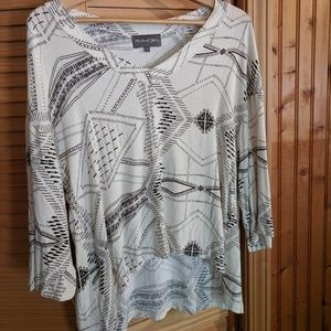 Michael Stars flowy v-neck top -size small NWOT